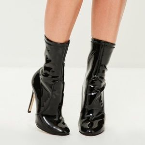 a4e1b355cf8 Missguided Shoes - NWOT Missguided Black Vinyl Ankle Boots